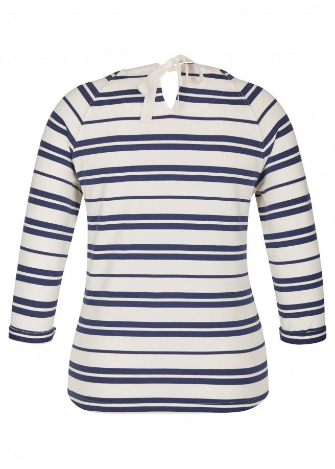 Maritimes Sweatshirt mit Ringel-Muster /