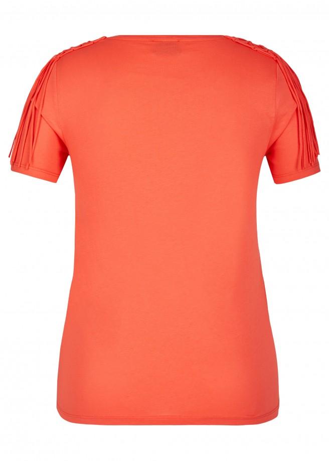 Vielfältiges T-Shirt mit Flecht-Details /