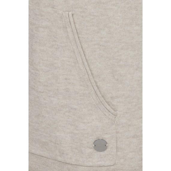 Leichter Kapuzen-Pullover mit Saumzug /