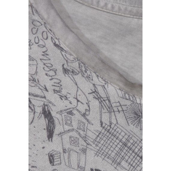 Modernes Shirt mit Sketch-Print /