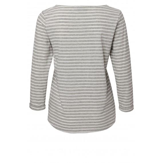 Süßes Ringel-Shirt mit U-Boot-Ausschnitt /
