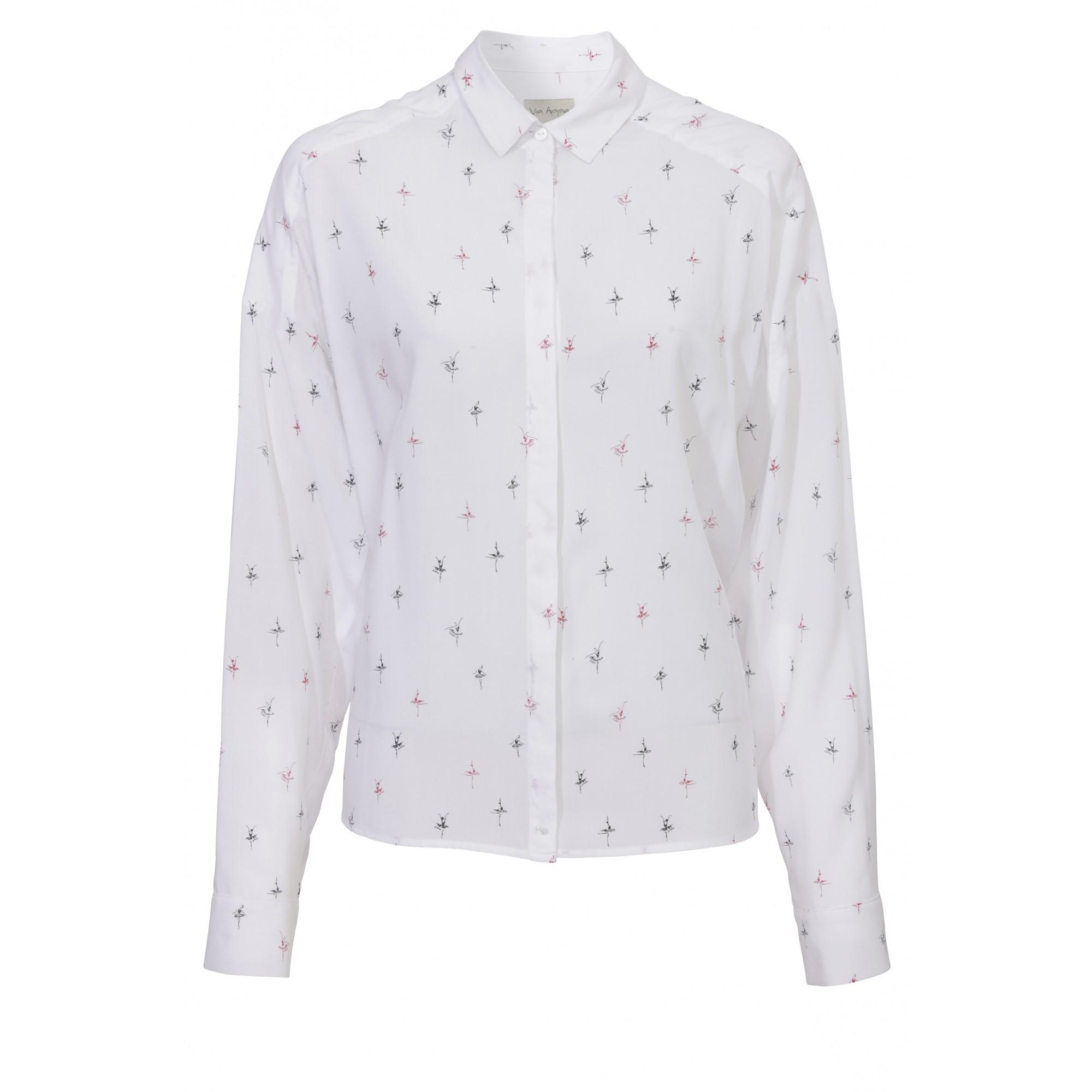 Bluse mit Hemdkragen und Print-Muster