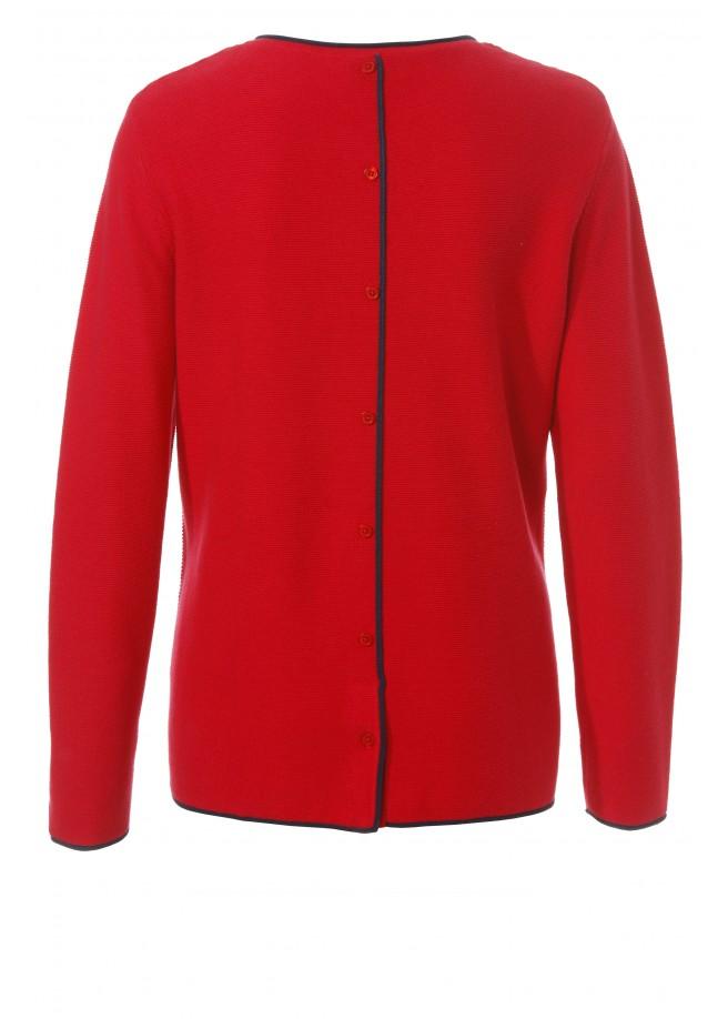 Modischer Pullover mit Kontrast-Details /