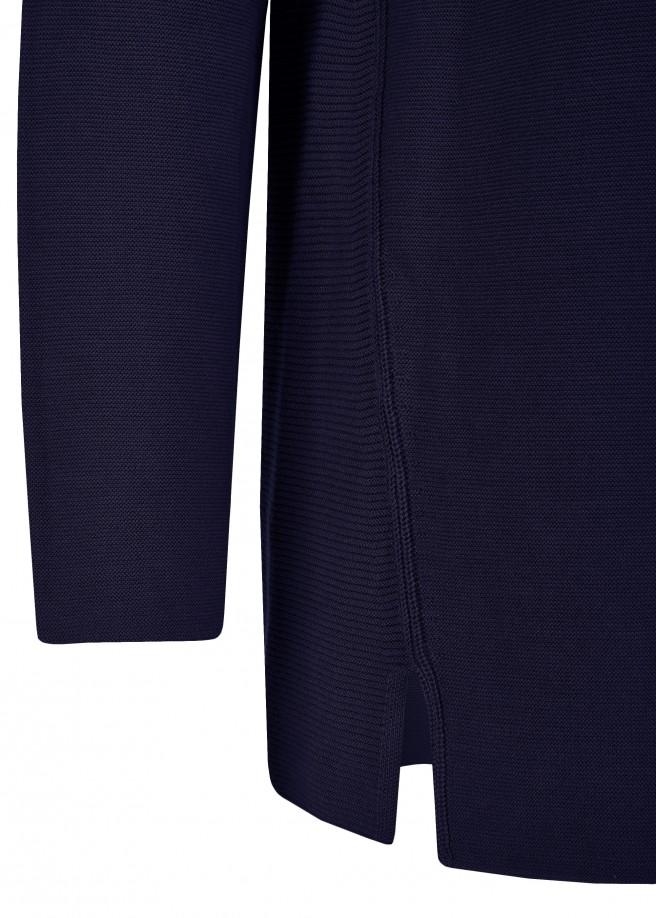 Offener Baumwoll-Long-Cardigan mit Strukturmuster /