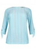 Modische Bluse mit Streifen /