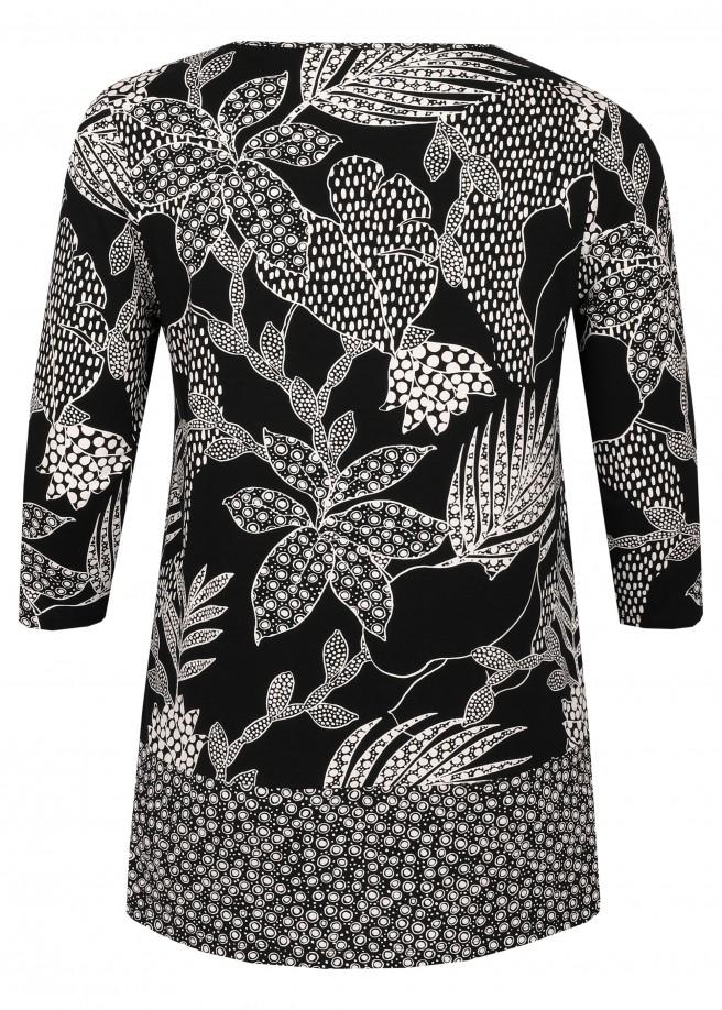 Extravagantes Shirt mit floralem Muster /