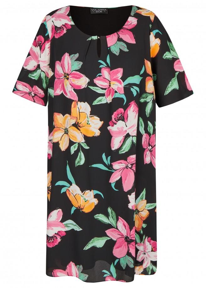 Luftiges Kleid mit Allover-Blumen-Print /