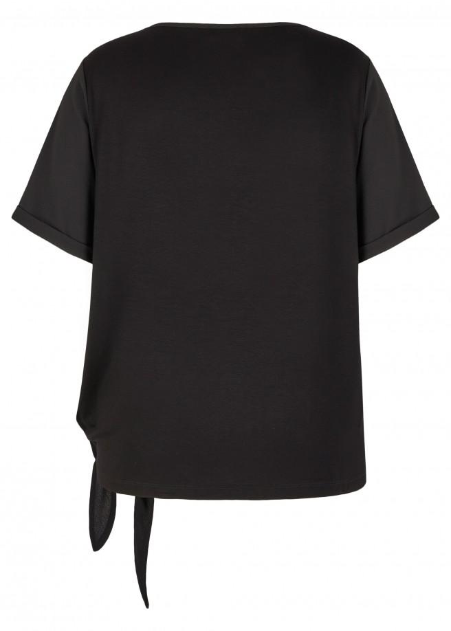 Glänzende Shirtbluse /