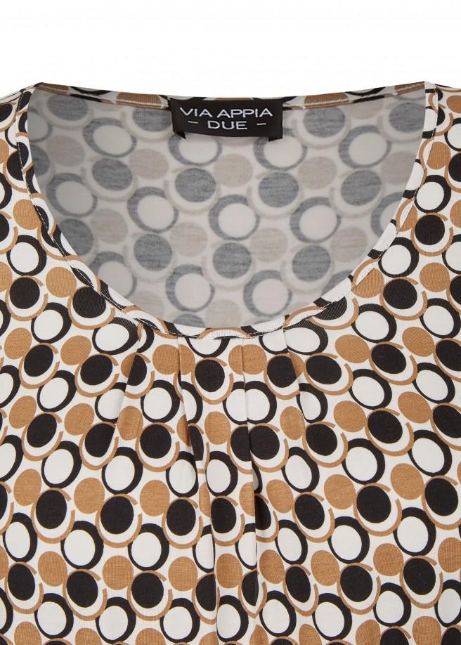 Trendiges Shirt mit Retro-Punktemuster /