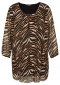 Extrovertierte Bluse mit Animalprint /