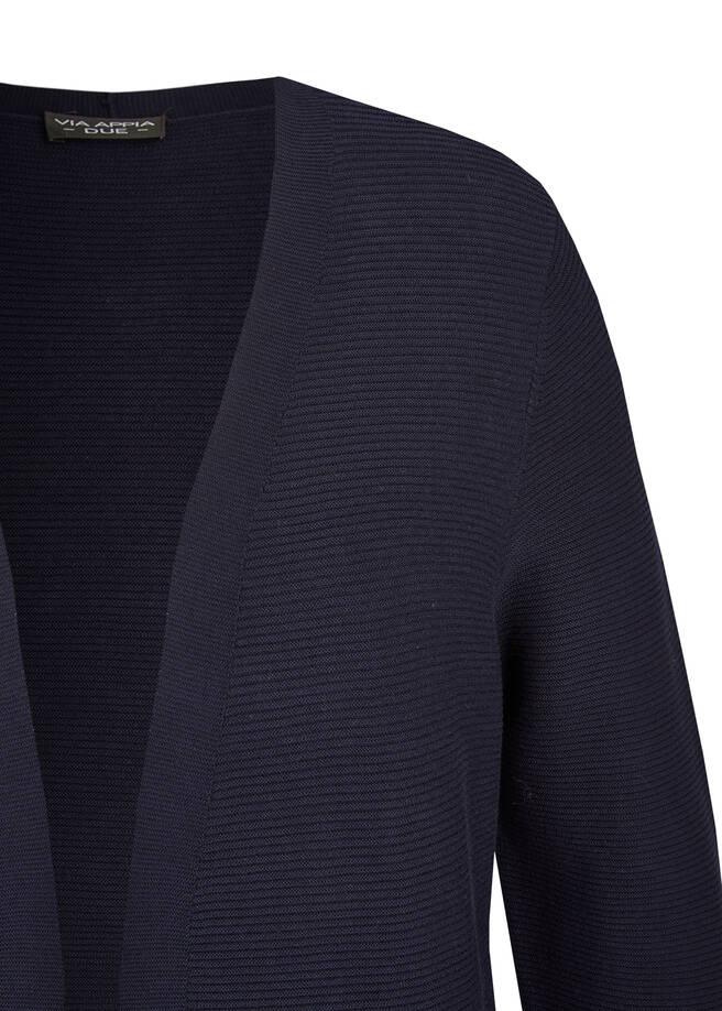 Klassische Cardigan mit unifarbenem Stoff /