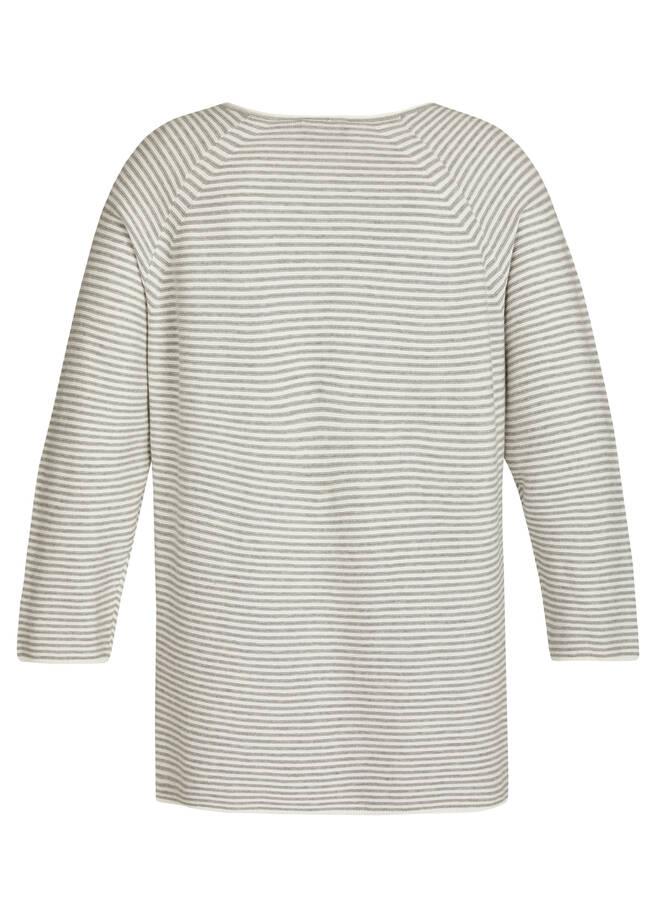 Fescher Pullover mit gestreiftem Muster /