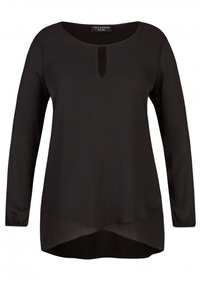 Raffinierte Bluse mit V-Detail /
