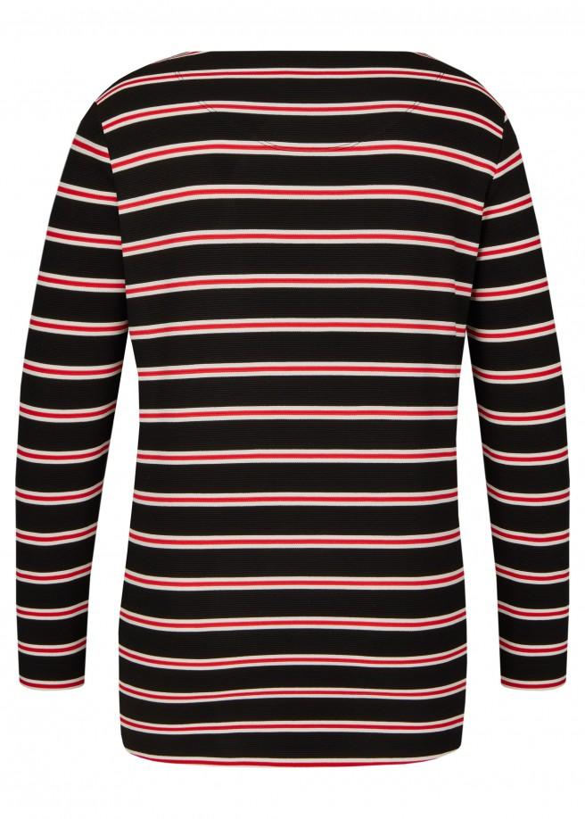 Feminines Sweatshirt mit Ringel-Muster /