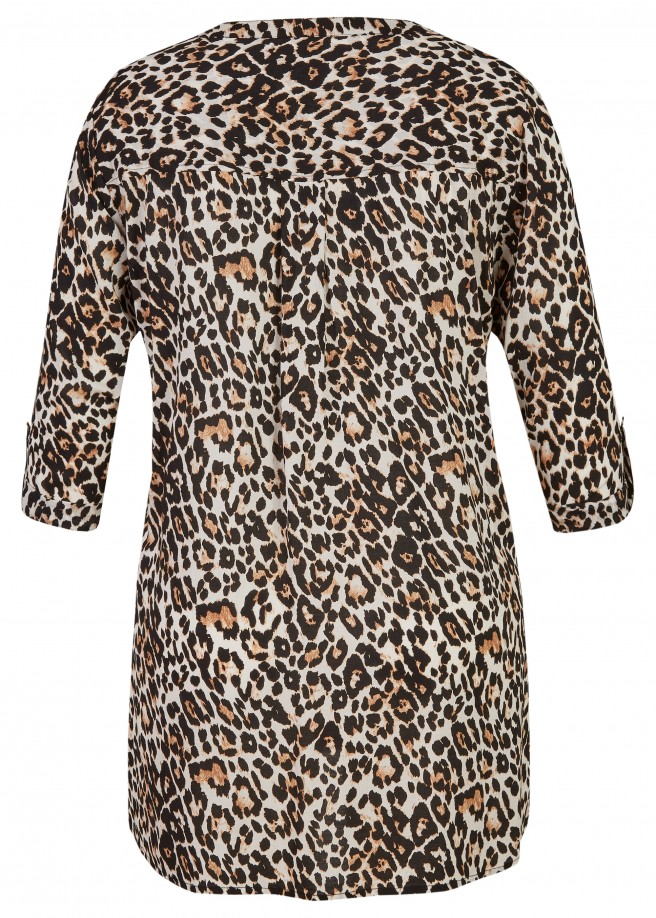 Stylische Bluse mit Animal-Print /