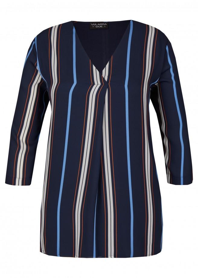 Modische Bluse mit Streifenmuster /