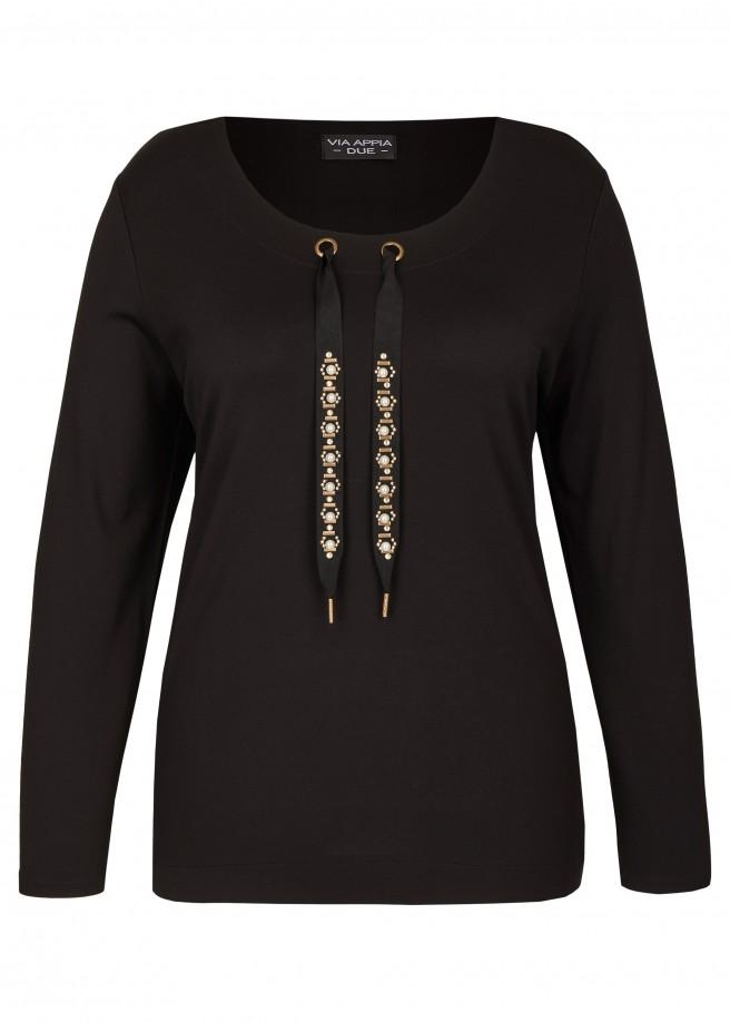 Stylisches Sweatshirt mit Bluseneinsätzen /