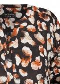 Schmeichelnde Viskose-Bluse mit Allover-Muster /