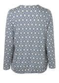 Modernes Rundhalsshirt mit abstraktem Muster /
