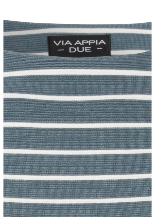 Sportives Sweatshirt mit geringeltem Muster /