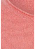 Fescher Rundhalspullover mit geringeltem Allover-Muster /