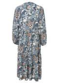 Feminines Blusenkleid mit buntem Muster /