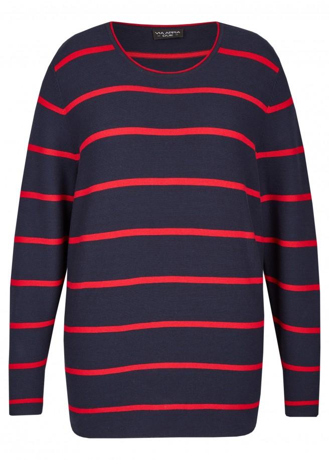 Moderner Pullover mit Ringel-Muster /