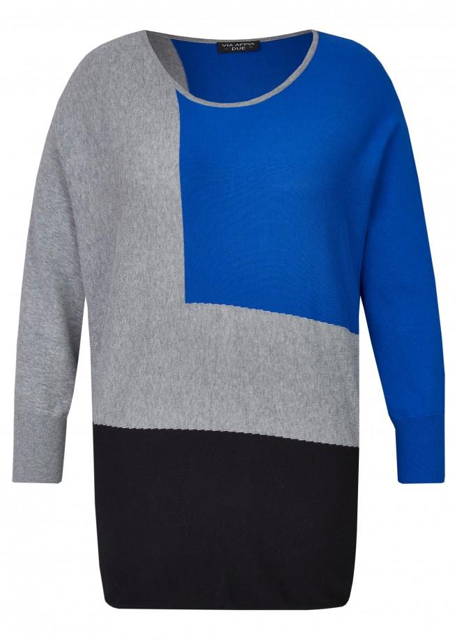 Trendiger Pullover mit Fledermausärmeln /