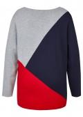 Moderner Pullover mit Grafik-Muster /