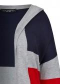 Trendige Long-Strickjacke mit Streifen-Muster /