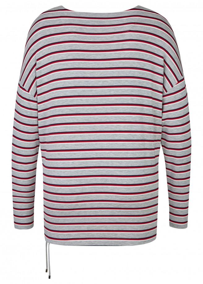 Süßes Sweatshirt mit Ringel-Muster /