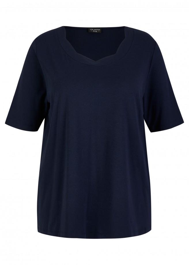 Softes Kombi-Shirt mit femininem Rundausschnitt /