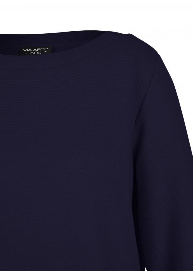Fließendes Sweatshirt mit Tunnelzug-Saum /