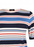 Maritimes T-Shirt mit mehrfarbigen Ringeln /