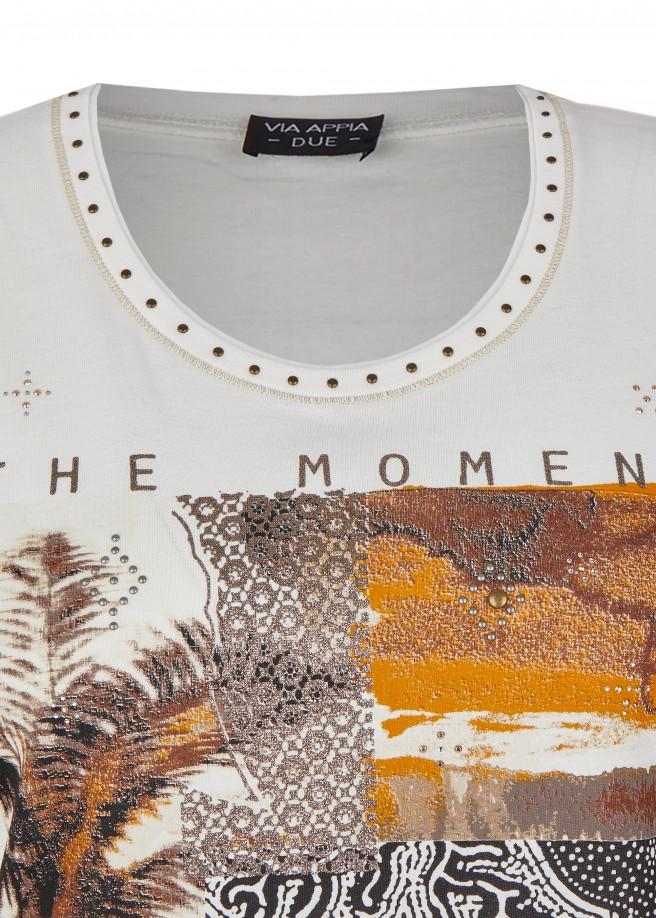 Extravagantes T-Shirt mit abstraktem Muster /