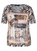 Extravagantes T-Shirt mit Glitzerdetails /