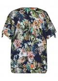 Romantisches T-Shirt mit geblümtem Muster /