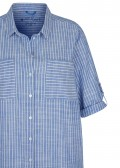 Fesches Hemdblusenkleid mit gestreiftem Muster /