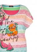 Fröhliches T-Shirt mit Front-Print /