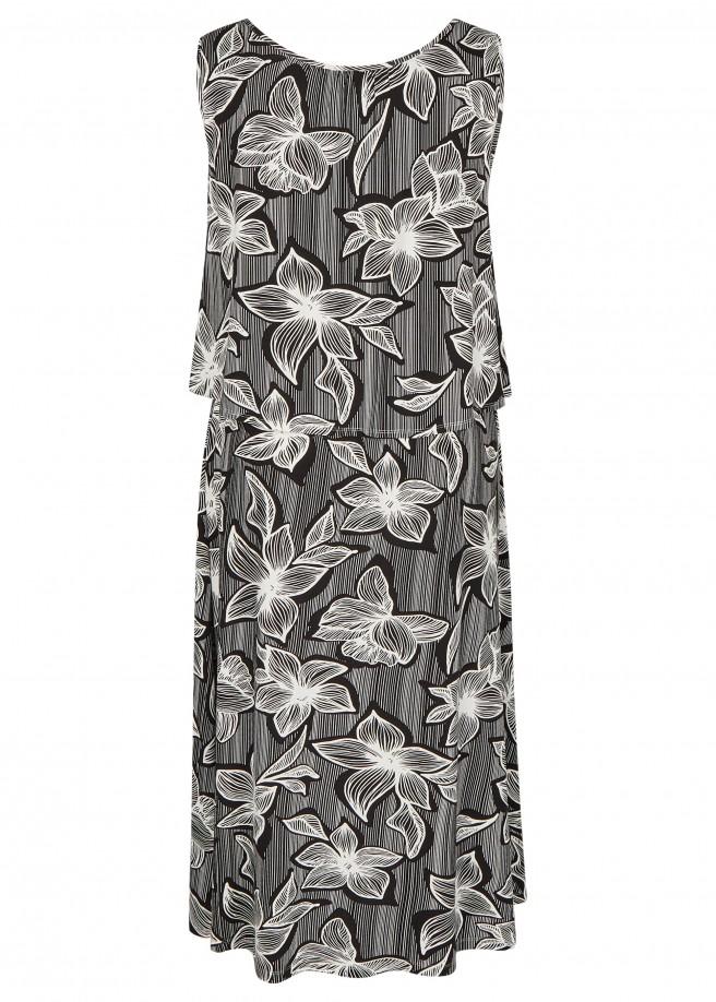 Modisches Kleid mit Allover-Print /