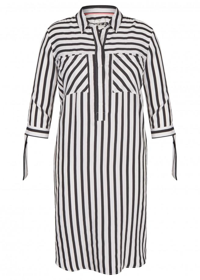 Klassisches Kleid mit Streifendesign /