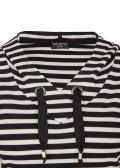 Sportives Sweatshirt mit Allover-Ringeln /