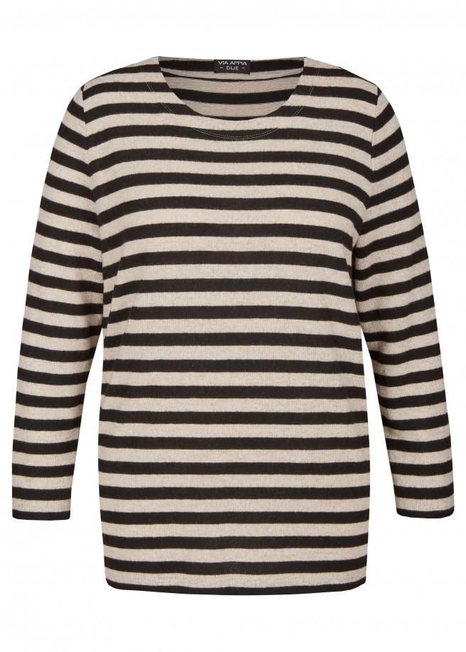 Weiches Sweatshirt mit Allover-Ringeln /