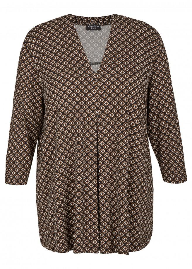 Extravagantes Shirt mit geometrischem Allover-Muster /