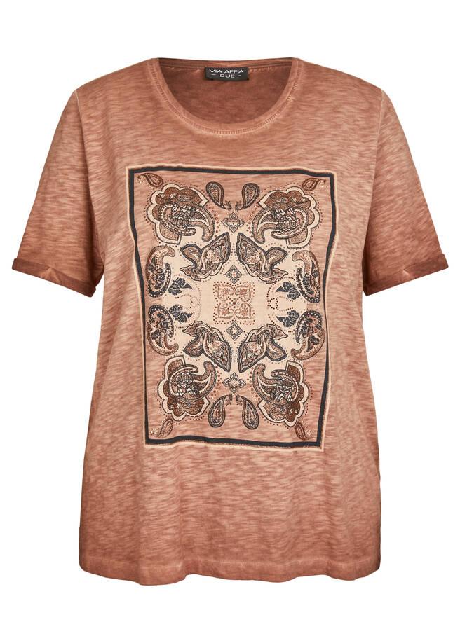 Verspieltes T-Shirt mit orientalischen Details /