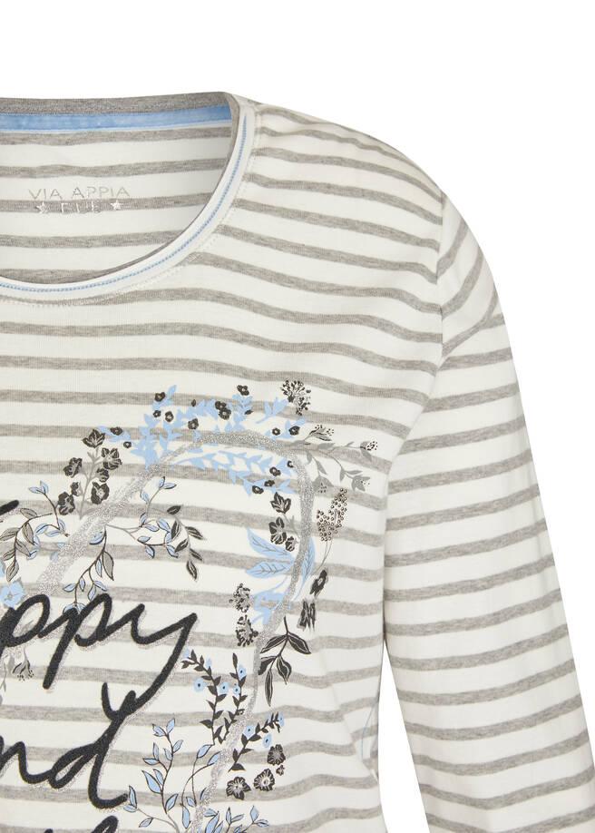 Feminines 3/4-Arm-Shirt mit Glitzerdetails /