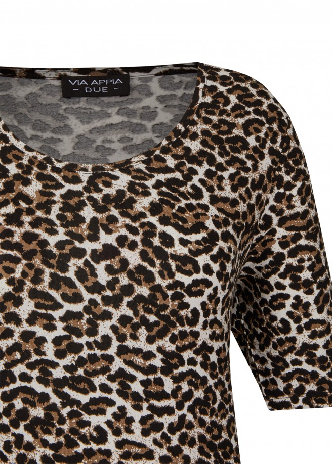 Trendbewusstes T-Shirt mit Animal-Muster /