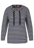Lässiges Sweatshirt mit Ringel-Muster /