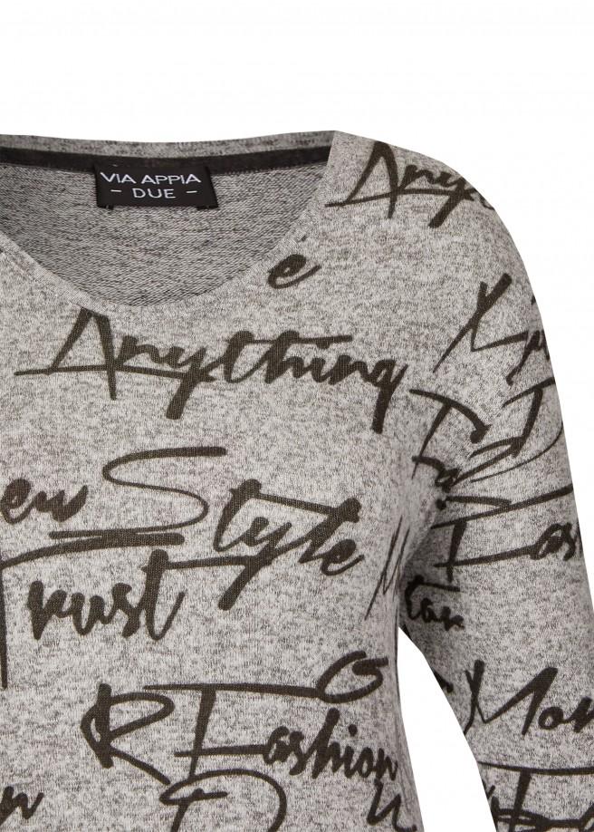 Modisches Sweatshirt mit Schrift-Design /