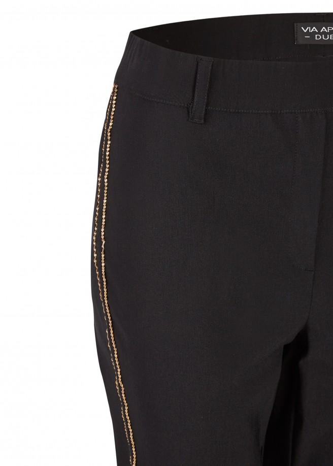 Modische Hose mit Galon-Streifen /